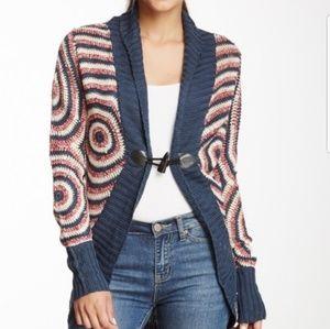 desigual knit sweater, toggle button